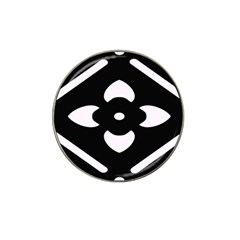 Black And White Pattern Background Hat Clip Ball Marker (4 pack)