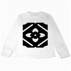 Black And White Pattern Background Kids Long Sleeve T-Shirts