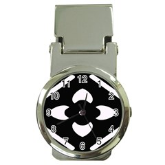 Black And White Pattern Background Money Clip Watches