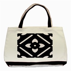 Black And White Pattern Background Basic Tote Bag