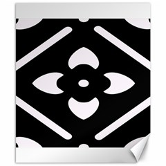 Black And White Pattern Background Canvas 8  x 10