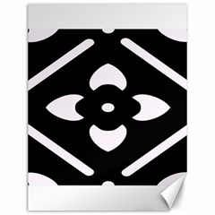 Black And White Pattern Background Canvas 12  x 16
