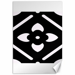 Black And White Pattern Background Canvas 12  x 18