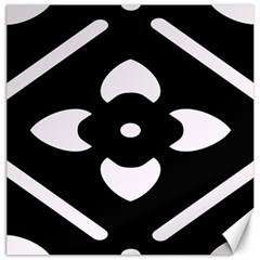 Black And White Pattern Background Canvas 20  X 20