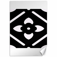 Black And White Pattern Background Canvas 20  x 30
