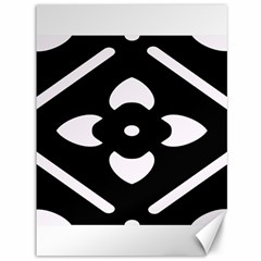 Black And White Pattern Background Canvas 36  X 48