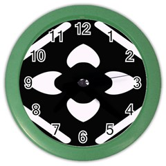 Black And White Pattern Background Color Wall Clocks