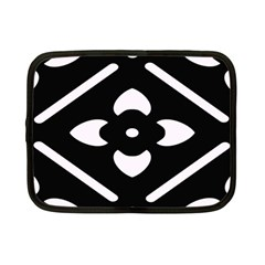 Black And White Pattern Background Netbook Case (Small)