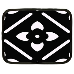 Black And White Pattern Background Netbook Case (Large)