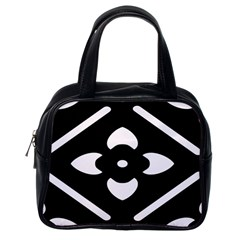 Black And White Pattern Background Classic Handbags (One Side)