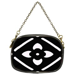 Black And White Pattern Background Chain Purses (Two Sides)