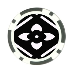 Black And White Pattern Background Poker Chip Card Guard (10 Pack)