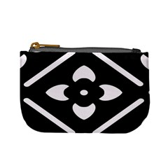 Black And White Pattern Background Mini Coin Purses