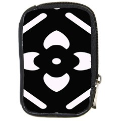 Black And White Pattern Background Compact Camera Cases