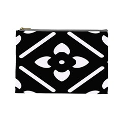 Black And White Pattern Background Cosmetic Bag (Large)