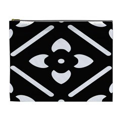 Black And White Pattern Background Cosmetic Bag (XL)
