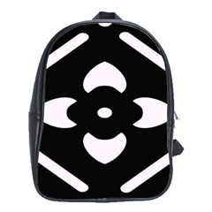 Black And White Pattern Background School Bags(Large)