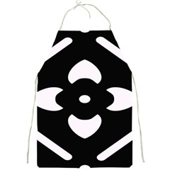 Black And White Pattern Background Full Print Aprons