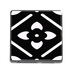 Black And White Pattern Background Memory Card Reader (Square)