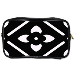 Black And White Pattern Background Toiletries Bags