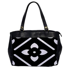 Black And White Pattern Background Office Handbags