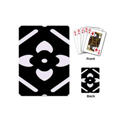 Black And White Pattern Background Playing Cards (Mini)