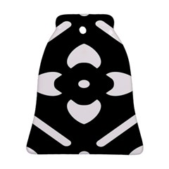 Black And White Pattern Background Bell Ornament (two Sides)