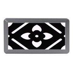 Black And White Pattern Background Memory Card Reader (mini)