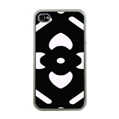 Black And White Pattern Background Apple Iphone 4 Case (clear)