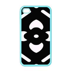 Black And White Pattern Background Apple Iphone 4 Case (color)