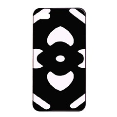 Black And White Pattern Background Apple iPhone 4/4s Seamless Case (Black)