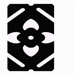 Black And White Pattern Background Small Garden Flag (two Sides)
