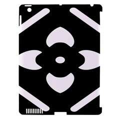 Black And White Pattern Background Apple iPad 3/4 Hardshell Case (Compatible with Smart Cover)