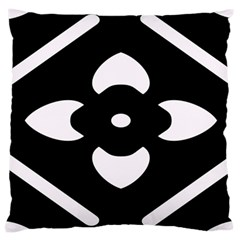 Black And White Pattern Background Large Cushion Case (one Side)