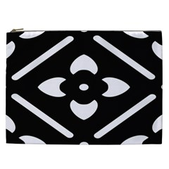 Black And White Pattern Background Cosmetic Bag (xxl)