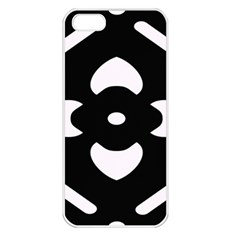 Black And White Pattern Background Apple Iphone 5 Seamless Case (white)
