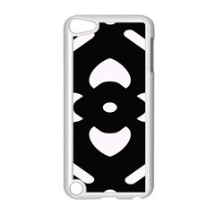 Black And White Pattern Background Apple iPod Touch 5 Case (White)