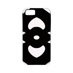 Black And White Pattern Background Apple iPhone 5 Classic Hardshell Case (PC+Silicone)