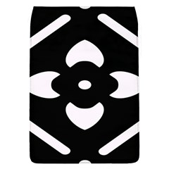 Black And White Pattern Background Flap Covers (L)