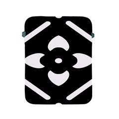 Black And White Pattern Background Apple iPad 2/3/4 Protective Soft Cases