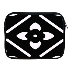 Black And White Pattern Background Apple Ipad 2/3/4 Zipper Cases