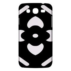 Black And White Pattern Background Samsung Galaxy Mega 5.8 I9152 Hardshell Case