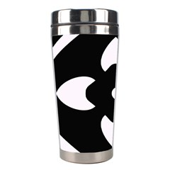 Black And White Pattern Background Stainless Steel Travel Tumblers