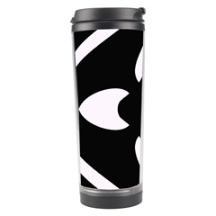 Black And White Pattern Background Travel Tumbler