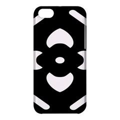 Black And White Pattern Background Apple Iphone 5c Hardshell Case