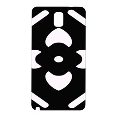 Black And White Pattern Background Samsung Galaxy Note 3 N9005 Hardshell Back Case