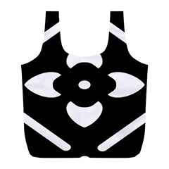 Black And White Pattern Background Full Print Recycle Bags (l)