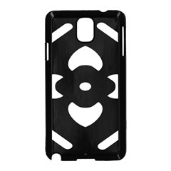 Black And White Pattern Background Samsung Galaxy Note 3 Neo Hardshell Case (Black)