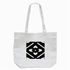 Black And White Pattern Background Tote Bag (white)