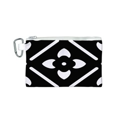 Black And White Pattern Background Canvas Cosmetic Bag (s)